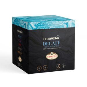 Estuche de 14 cápsulas de café Cremossa Espresso Decaff – Sistema FAP