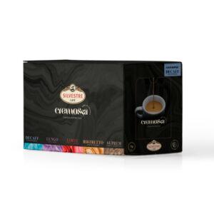 Caja de 50 cápsulas de café Cremossa Espresso Decaff – Sistema FAP
