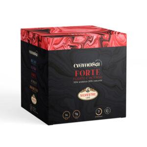 Estuche de 14 cápsulas de café Cremossa Espresso Forte – Sistema FAP