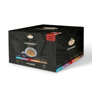 Caja de 100 cápsulas de café Cremossa Espresso Forte – Sistema FAP
