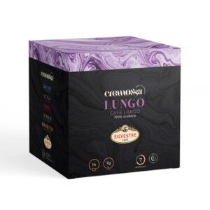 Estuche de 14 cápsulas de café Cremossa Espresso Lungo – Sistema FAP