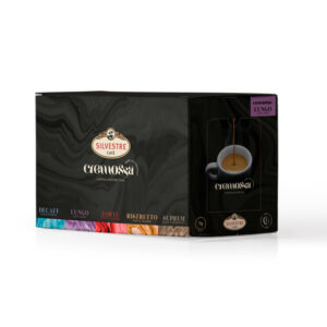 Caja de 50 cápsulas de café Cremossa Espresso Lungo – Sistema FAP