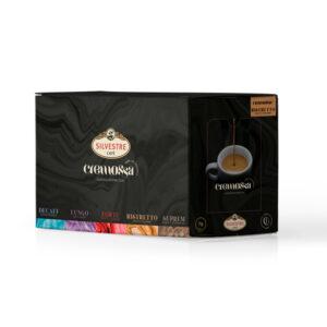 Caja de 50 cápsulas de café Cremossa Espresso Ristretto – Sistema FAP