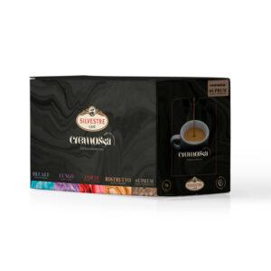 Caja de 50 cápsulas de café Cremossa Espresso Suprem – Sistema FAP